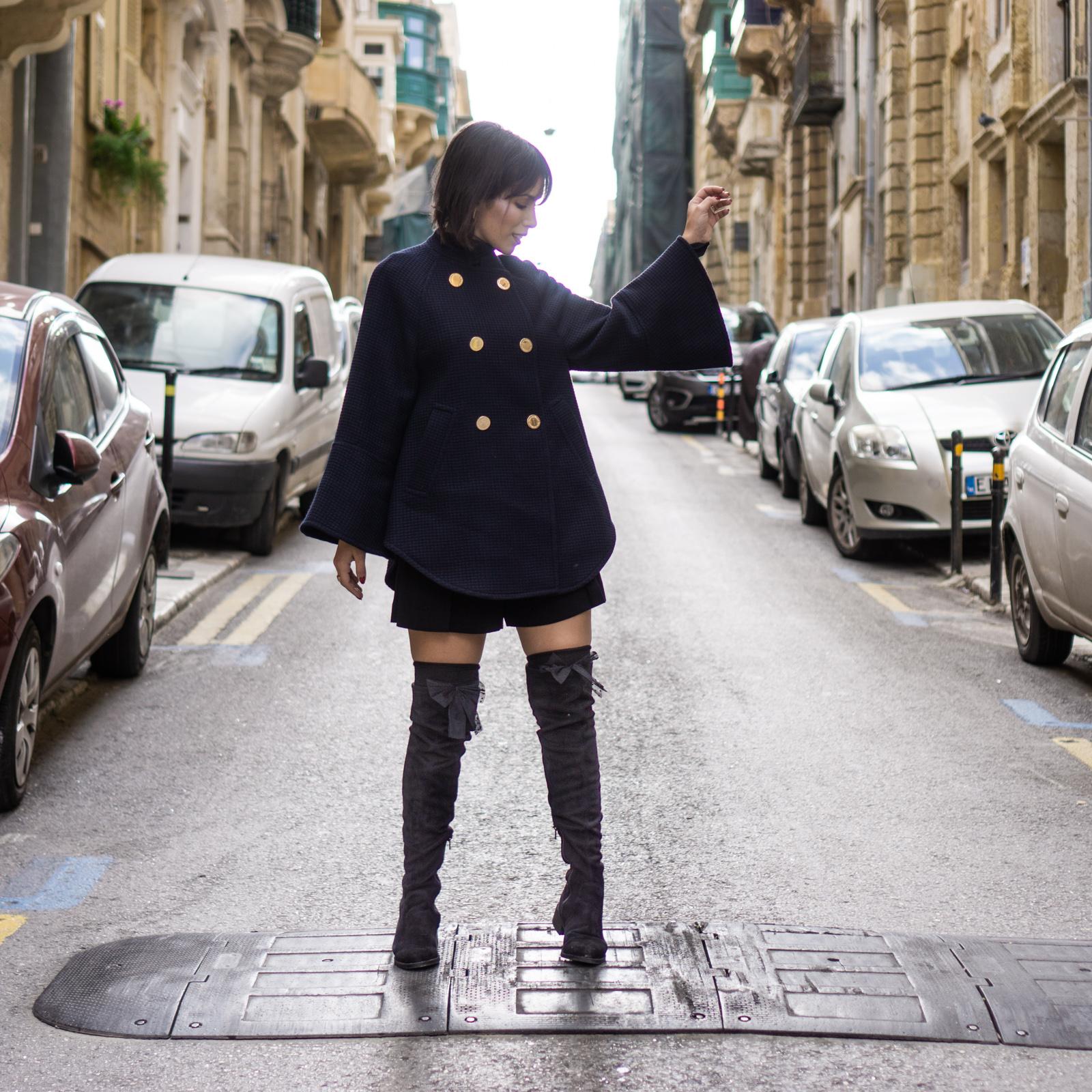 Valletta malta wearing a cape