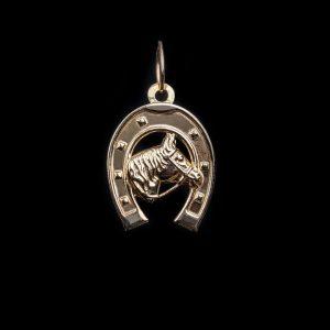 18ct Gold Horse Shoe Pendant